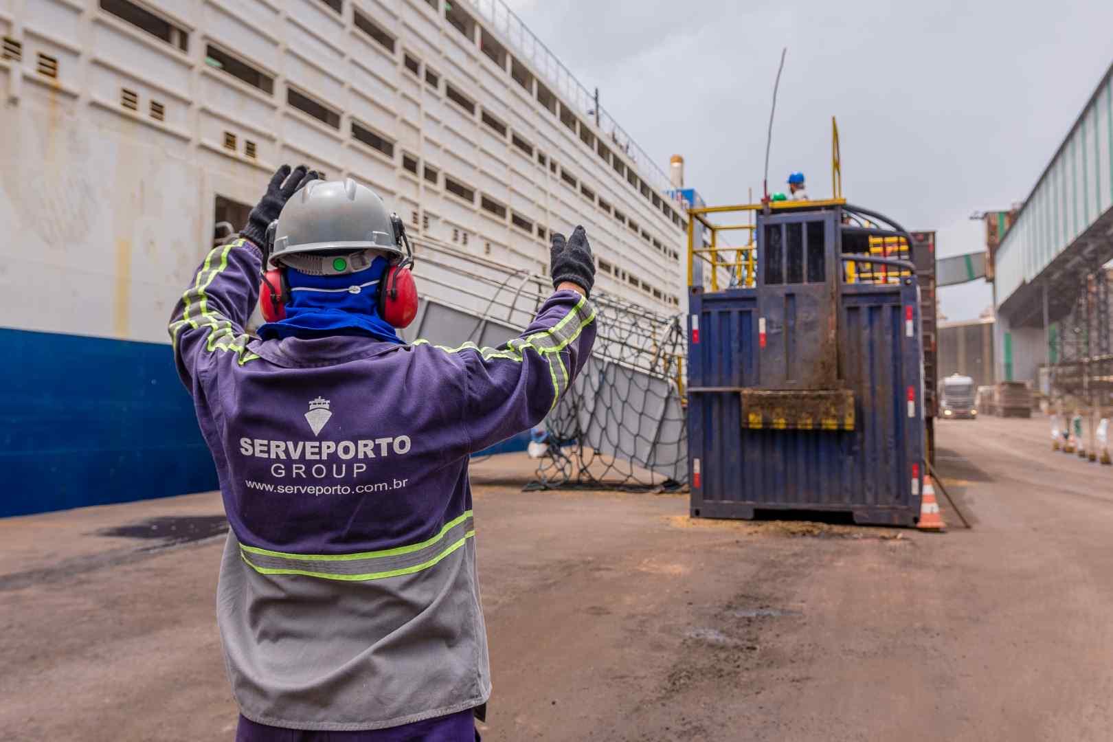 Imagens produzidas para Serveporto realizada no porto CDP Vila do Conde/PA